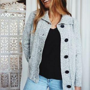 NWOT • Karen Scott//Gray Knit Jacket